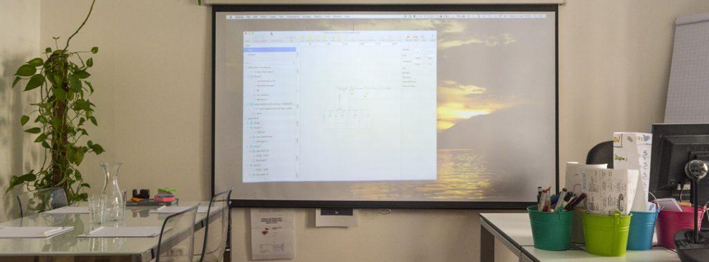 Projektor und Whiteboard