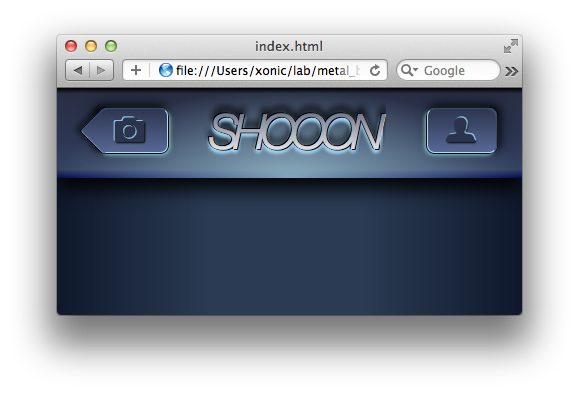 The menu bar with some nice gradients