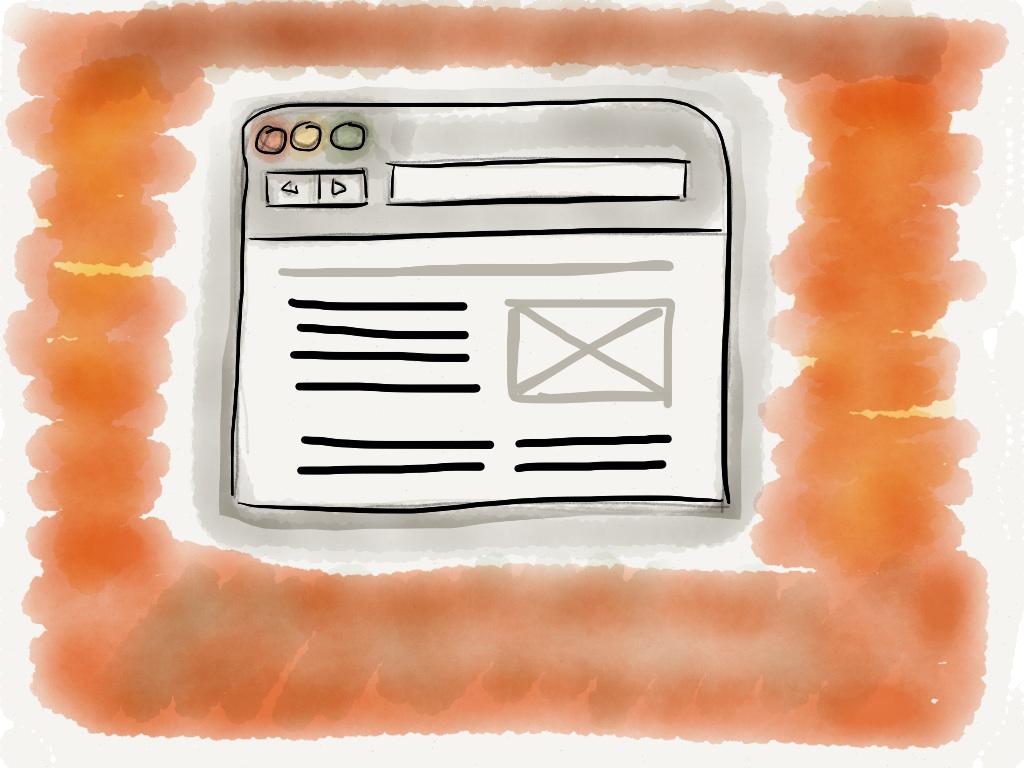 Sketch eines Browsers