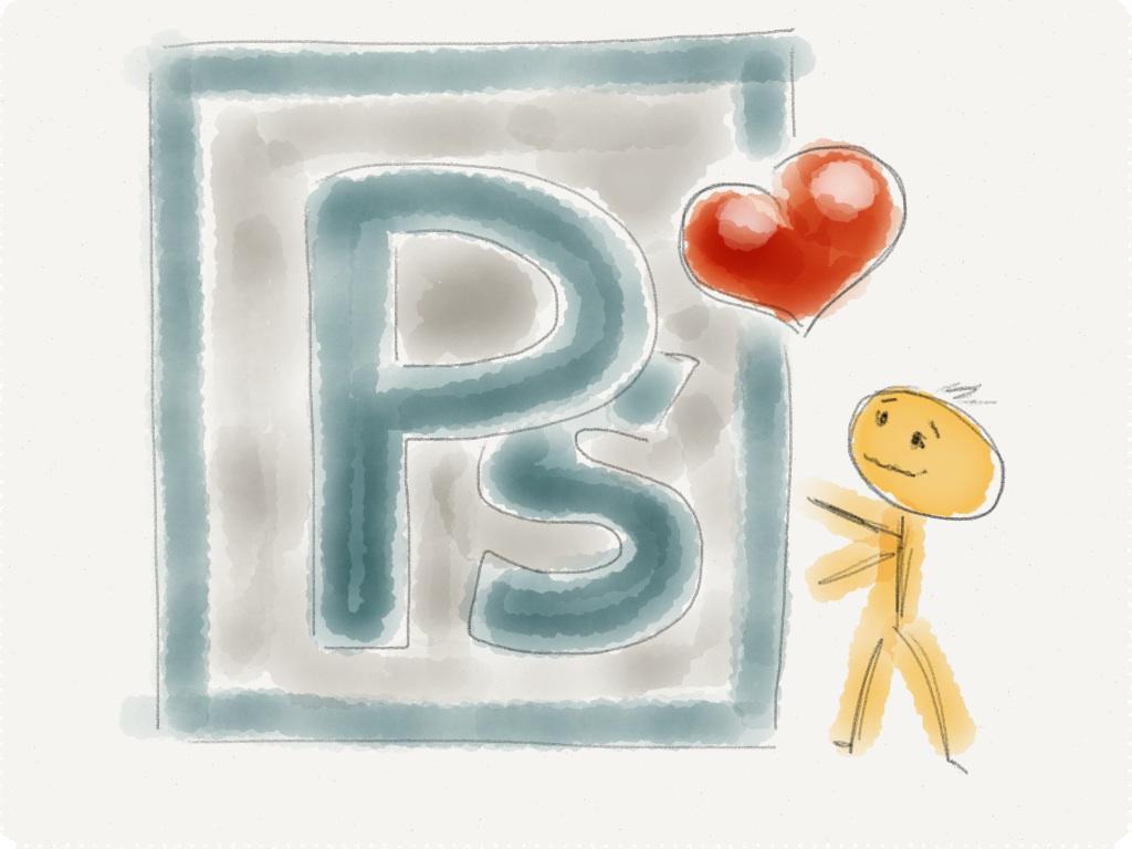 Sketch der Liebe zu Photoshop