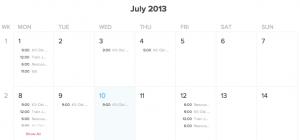 Kalender Beispiel - Standard Ansicht