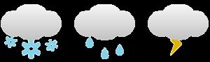 Beispiel für Icon Fonts im Responsive Web Design für Wetter Icons