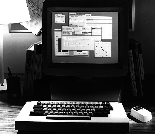 Smalltalk environment running on a late XEROX Alto or Star