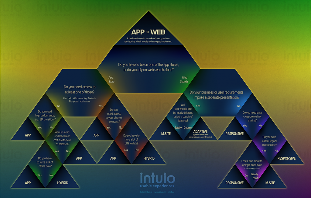 App or Web Infographic