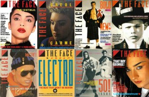 Typical example of 1980's typography: The Face Magazine